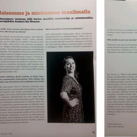 """""""Naisemme ja miehemme maailmalla"""", Kuoronjohtajayhdistyksen Bulletin 2018/02"""
