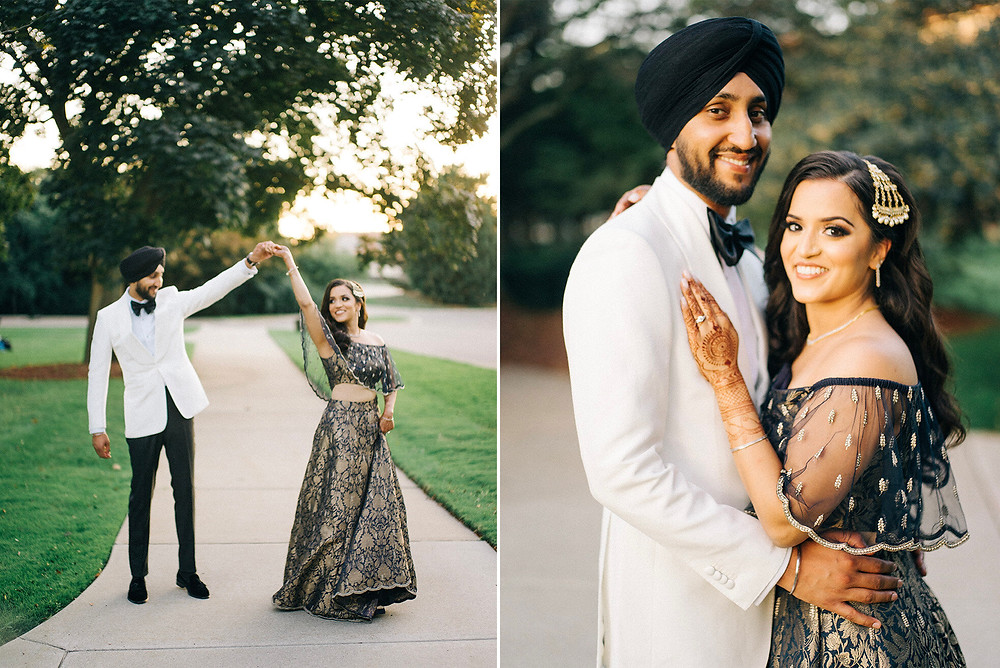 sangeet outfits bride and groom