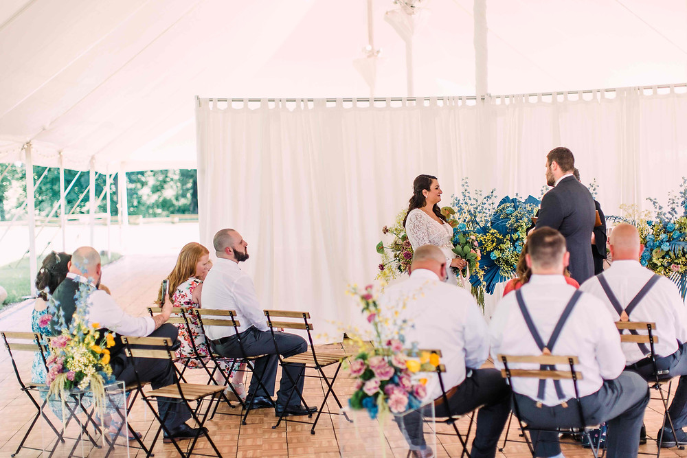 Lola Grace Photography tiny wedding ceremony at Zingerman's Cornman Farms