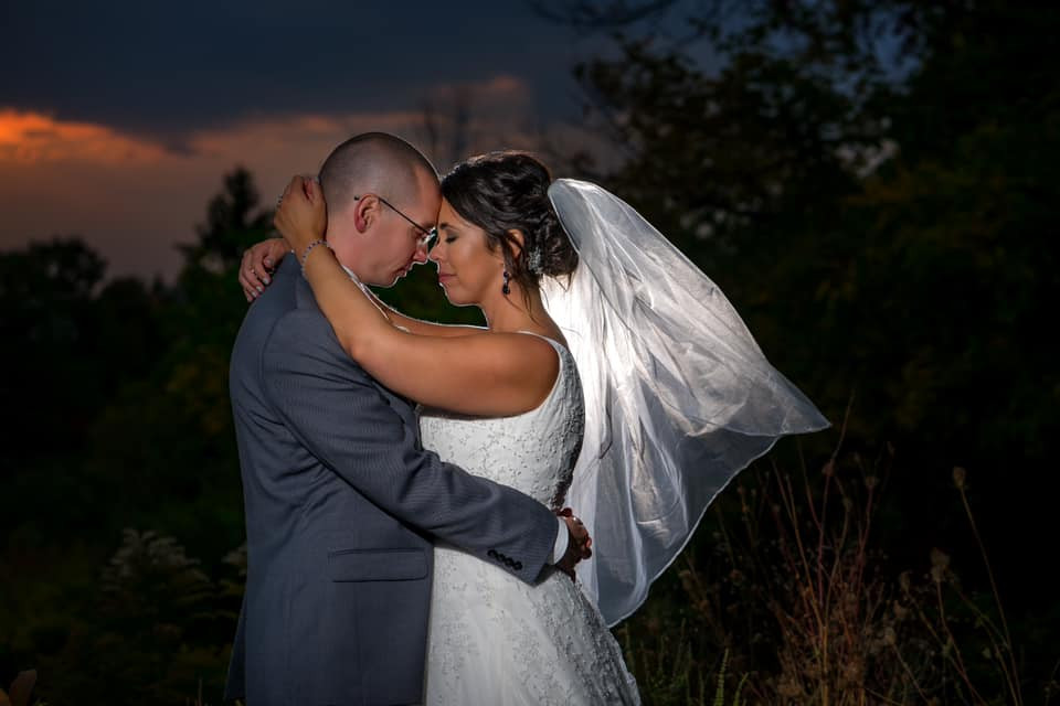 Exposures by Rah bride and groom sunset photo in traverse city