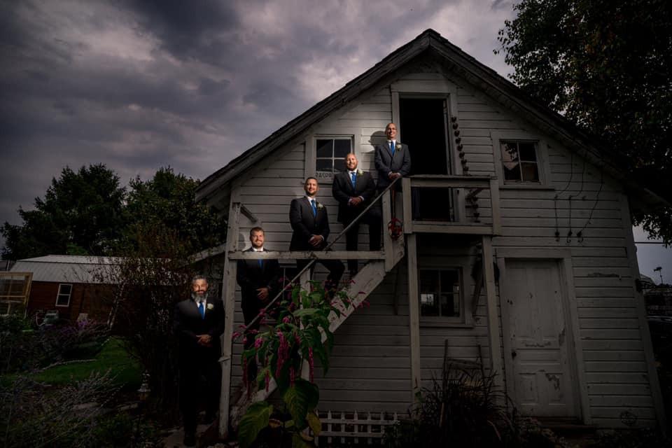 Exposures by Rah groomsmen wedding photo at Hoopers Farms