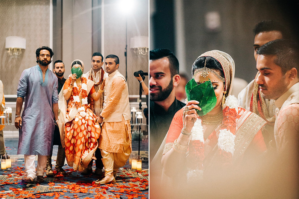 Hindu ceremony bride carried down aisle