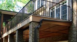 Second story deck/rain escape