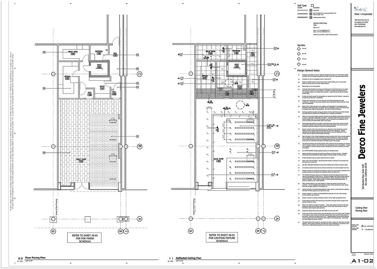 Floor Plan + Reflected Ceiling Plan