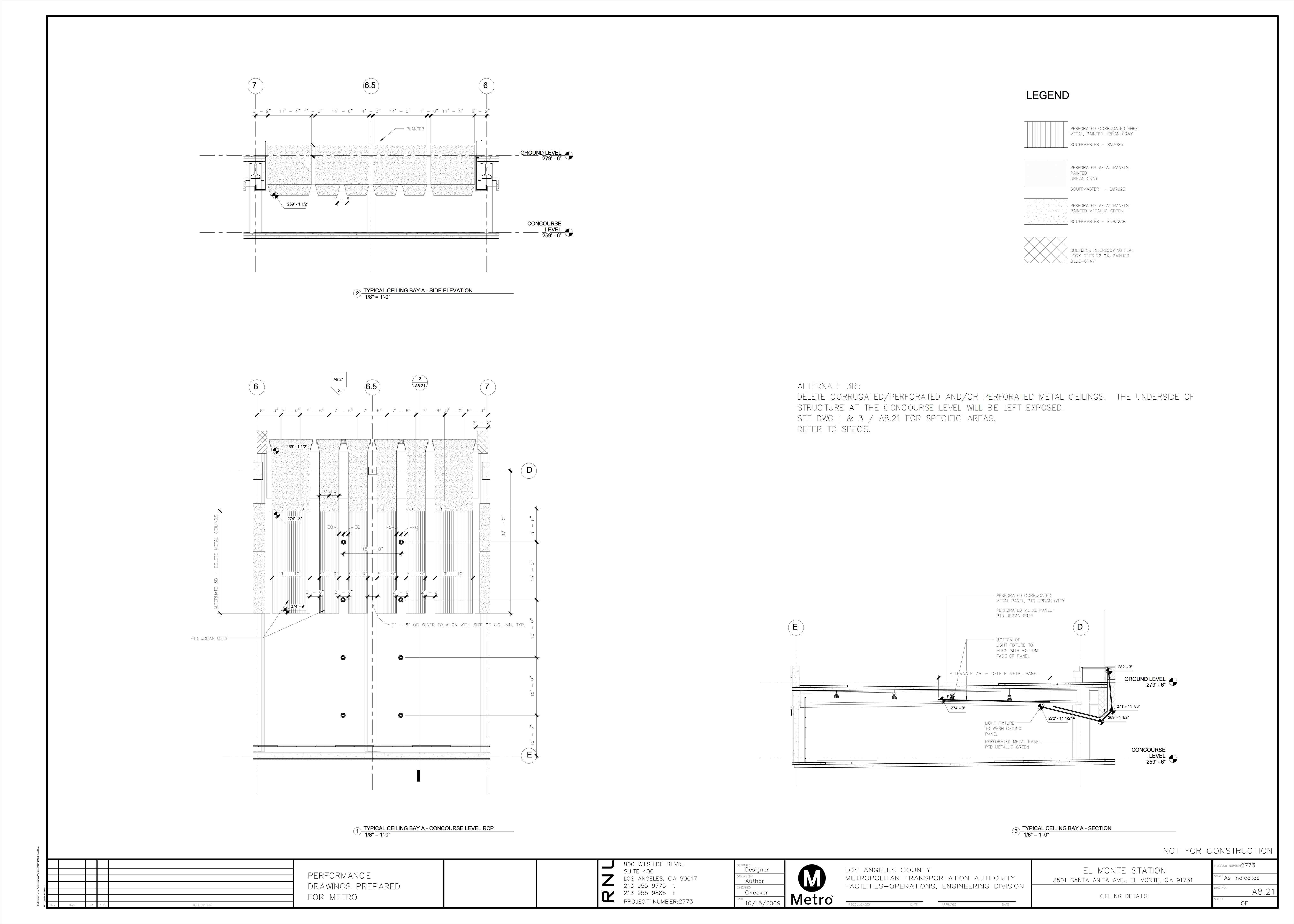 Concourse Ceiling Details