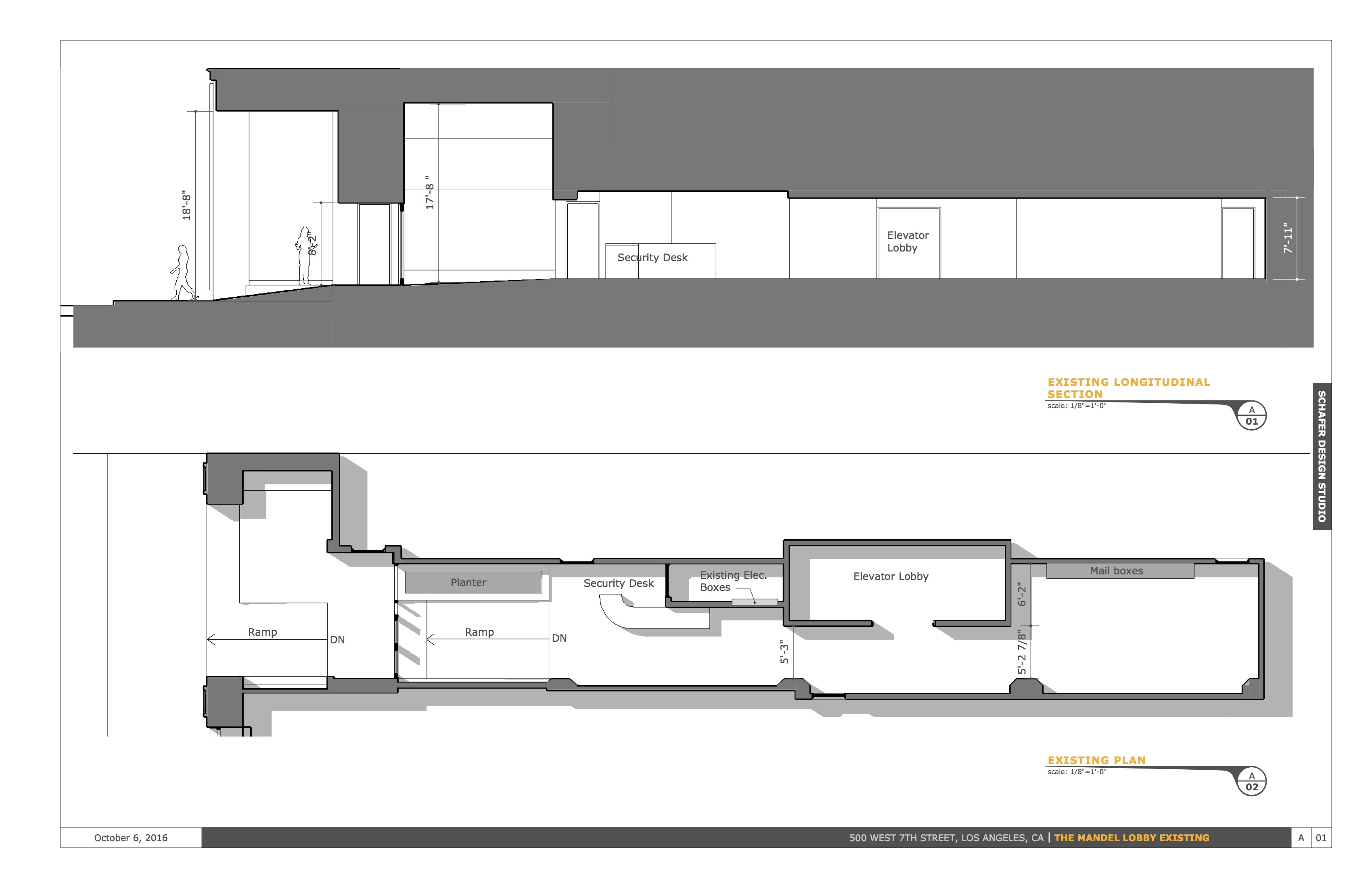 existing plan & section