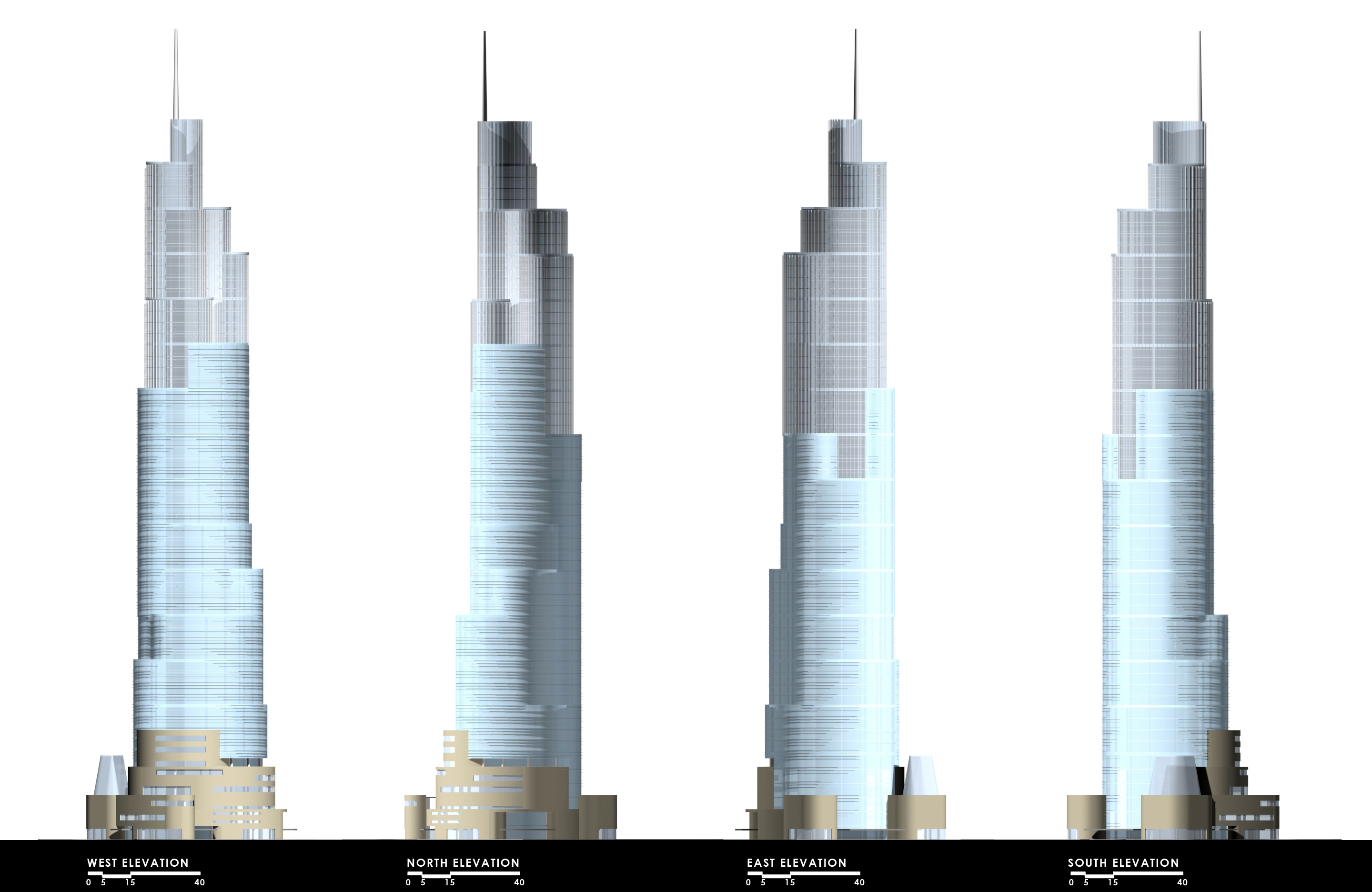 Office Tower Elevations