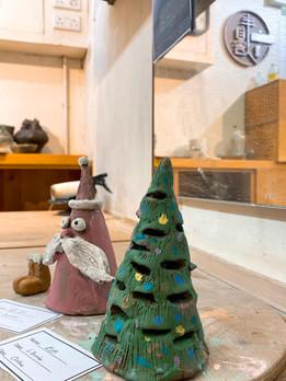 Christmas Jingle Bell _ Candle Stand pot