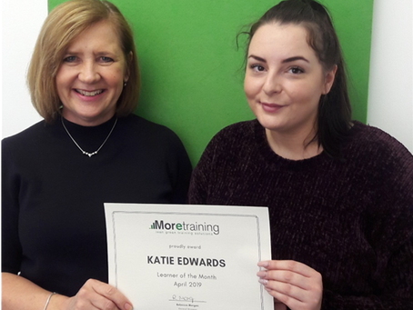 April 2019 Learner of the Month - Katie Edwards of freshflow