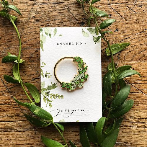 Botanical Wreath Enamel Pin