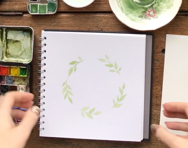 floral wreath tutorial painting georgiou draws