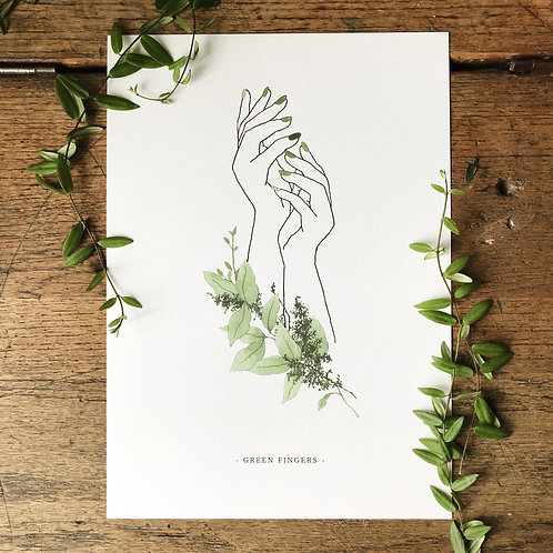 Green Fingers... A4 Print LIMITED EDITION
