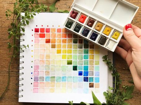 Watercolour Palette Review - Prima Watercolour Confections Vs Winsor and Newton Cotman Palette