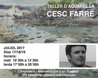 Taller d'aquarel·la amb CESC FARRÉ