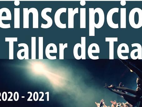 PREINSCRIPCIONS TALLER DE TEATRE