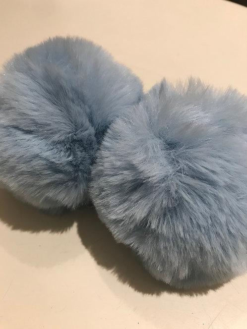 Light Blue  Snap Pom Pom (2)