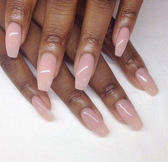 neutral nails black woman