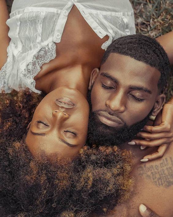 dark skin black love couple
