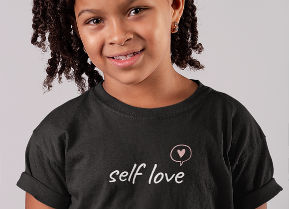 Kids Self Love Black T-Shirt