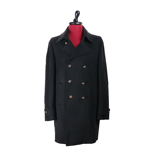 Cappotto 100% Cotone Nero | Riccardo Chieruzzi