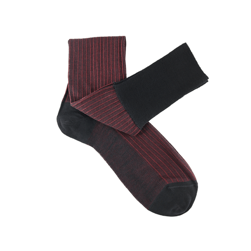 Calzini Warm Paths Black Bordeaux Black Bordeaux | Retouche
