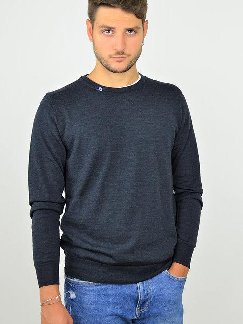 Maglione Uomo Blu Indaco | Fortunale