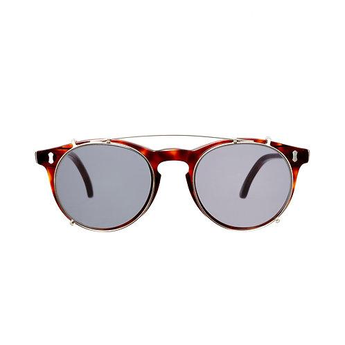 Pleat Classic Tortoise - Gradient Grey | TBD Eyewear