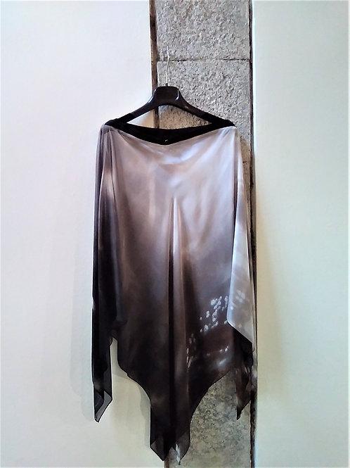 Poncho Silk Chiffon   Adima-Alba Petriolo