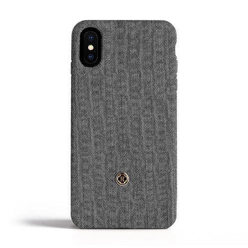 Cover per Iphone X - Herringbone - Oyster grey  | Revested