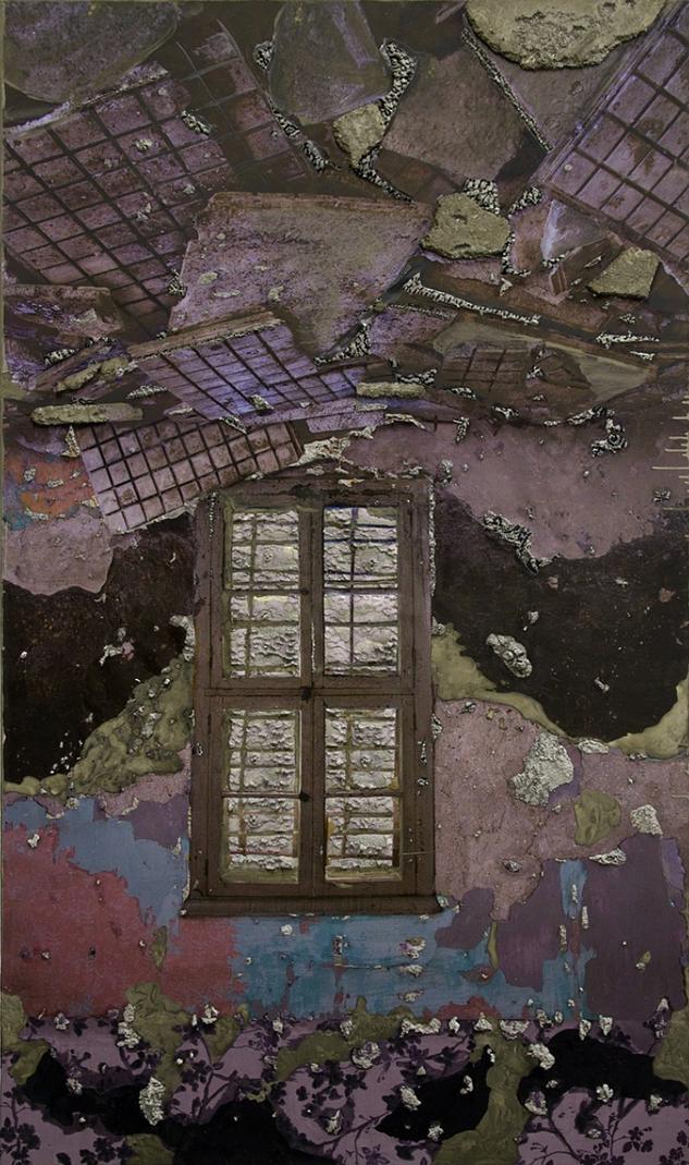 Naomi Safran-Hon | Wadi Salib: Wood Roof with Doorway | 2016