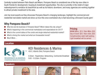 Join us as we host the Pompano Beach City Spotlight, Wednesday Feb 15th at Koi!
