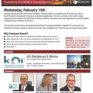 Join us as we host the Pompano Beach City Spotlight, Wednesday Feb 15th at Koi!