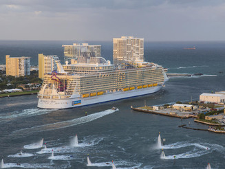 The Harmony of the Seas makes debut as the world's largest cruise ship!