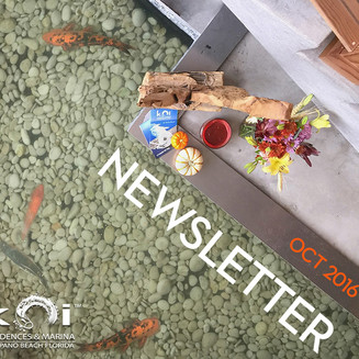 Koi Residences October Newsletter