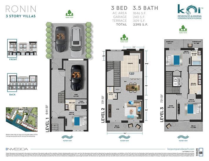 Koi Residences 3 Story Villa Floor Plan