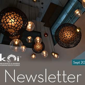 Koi Residences September Newsletter