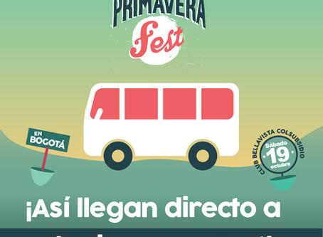 Llega fácil a El Primavera Fest con estas opciones de transporte
