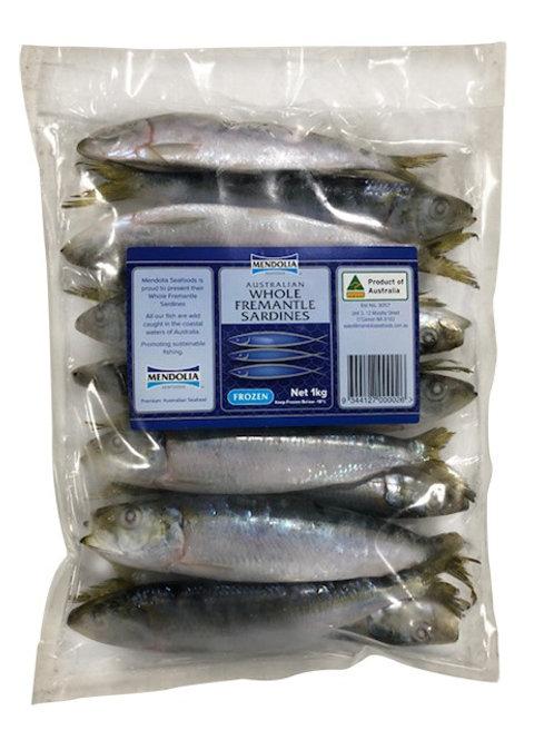 Whole Fremantle Sardines - Frozen 1kg