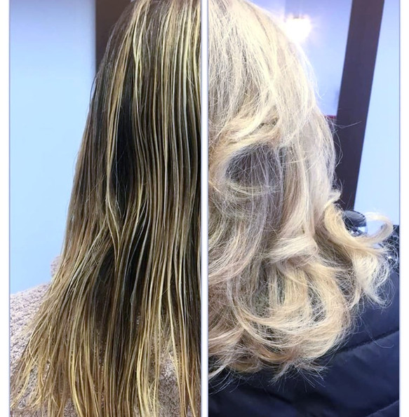 Haircut, highlights & blowdry