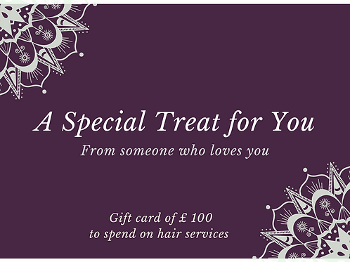 Gift card £100 (£5 on us!)