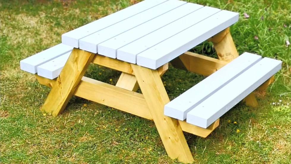 Two Tone Children's Picnic Table in Baby Blue