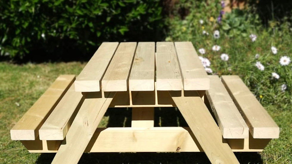 Natural Wood Children's Picnic Table