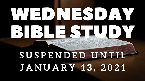 service announcements-- suspended bible