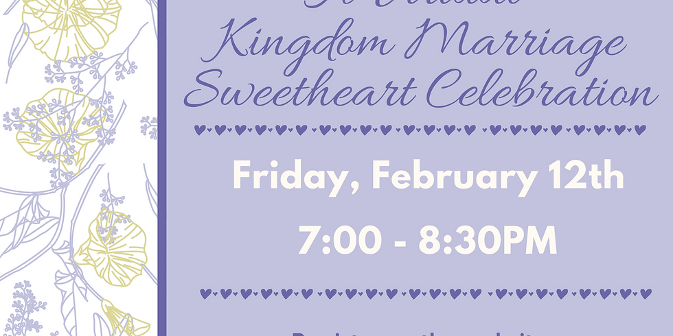 A Virtual Kingdom Marriage Sweetheart Celebration