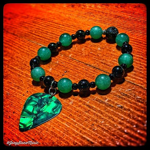 Green Aventurine & Guitar Pick Diffuser Bracelet