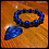 Thumbnail: Lapis, Jasper, Steel Ring & Guitar Pick Diffuser Bracelet