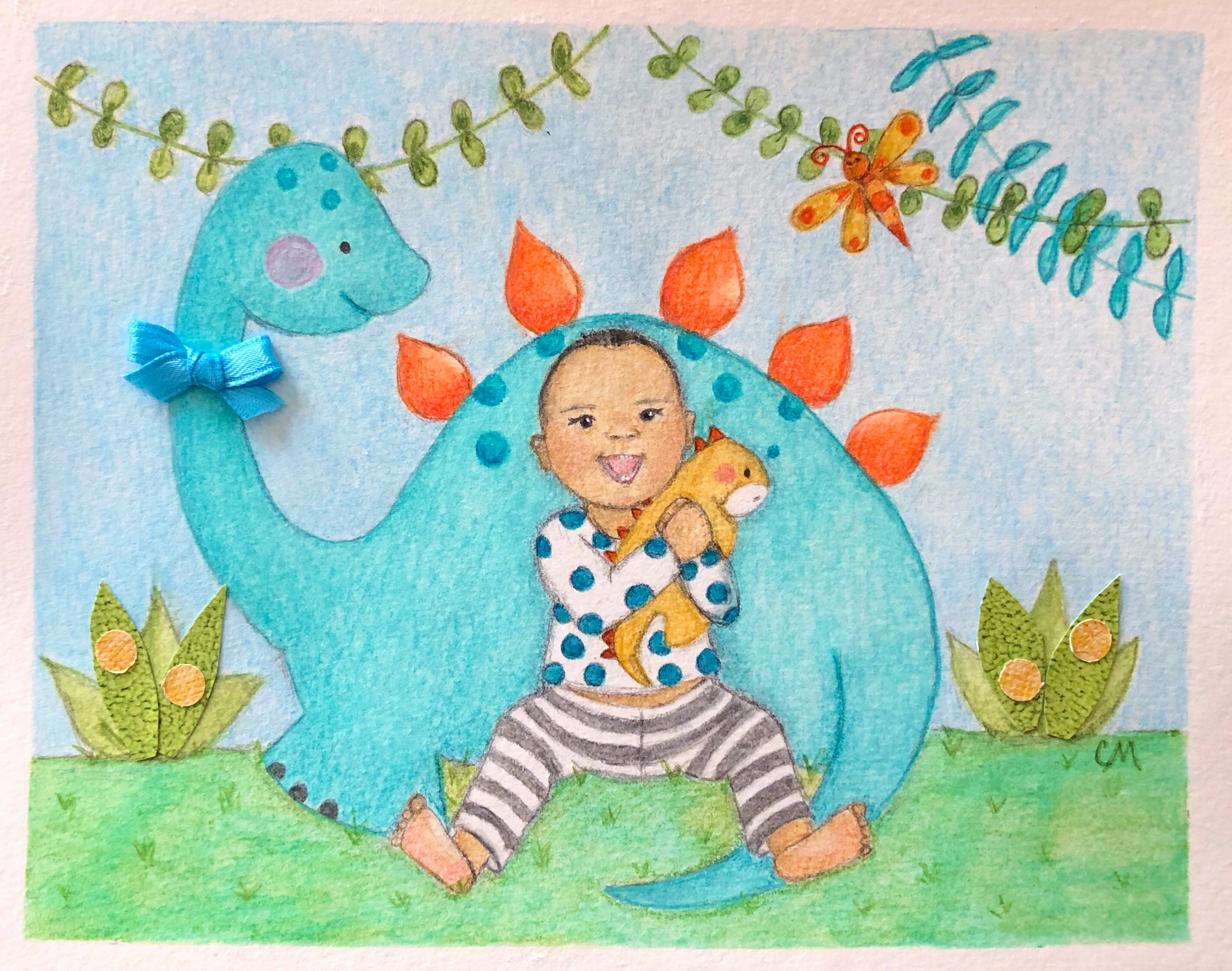 Baby loves dinosaurs