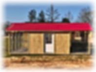 12x24 Deluxe 6 Run Kennel, American Red Metal roof, 9-Lite House Door, Window,