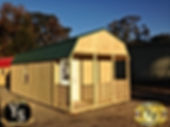 12x28 Porched Lofted Shed with rails and