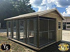 12x16 four run dog kennel with 2 windows